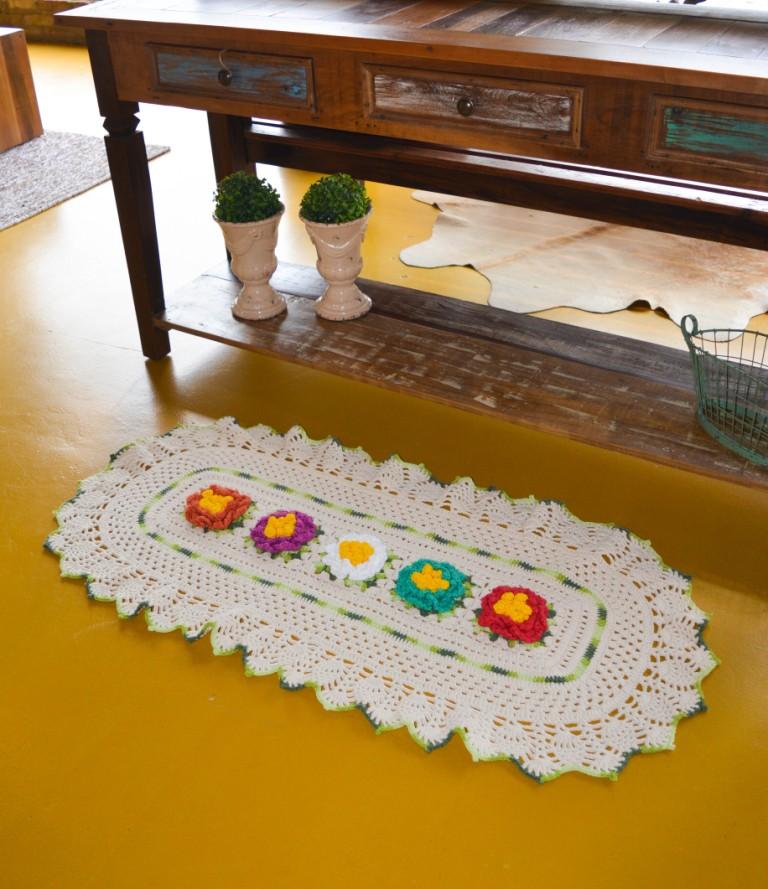 Receita: Tapete Flores Coloridas